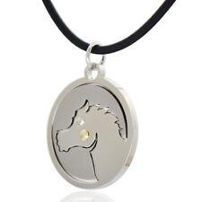 Ciondolo zodiaco cinese CAVALLO in acciaio liscio satinato borchia in oro 18kt