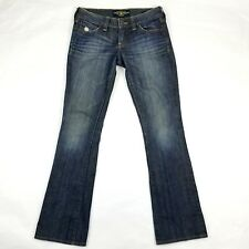 Lucky Brand Womens Jean 00/24 Blue Medium Wash Lola Boot Distressed Jeans 29x30