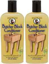 (2) Howard Products BBC012 Food Grade Butcher Block Conditioner 12oz Protect