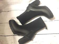 New Hunter Original Sock Boot Neoprene Heel Rain Boot Black Rubber Sz 10 $225