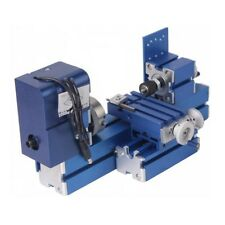 Mini Motorized Lathe Machine 24W DIY Tool Metal Woodworking Hobby Model Making