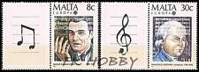 Malta 1985 Mi 726-27 Zf ** Union Europa Cept Music Azopardi Composer Komponist