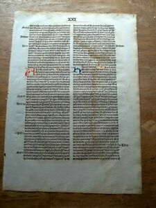 Commentary on the City of God by Thomas Valois   printed 1494