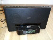 Sony Radio Horloge Lecteur Ipod IPhone ICF-DS15iP Fonctionne