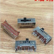 10pcs Slide Switch 14Pins 6 Position 2P6T Contact Type DC 50V 0.5A DP3T SS-26E02
