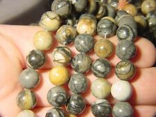 "BUTW- picasso marble round 16"" 10mm strand beads 7024A"