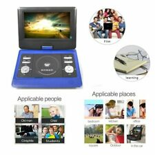 """10"""" Portable DVD Player Swivel Screen USB Free Games Disc CD Rechargeable In-Car"""