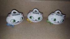 Vintage Holt Howard Cozy Kitten Spice Set of 3 - 1959