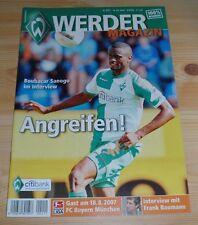 Neues AngebotProgramm Werder Bremen - FC Bayern München 18.08.2007 - 1.Liga 2007/2008