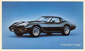 H71/ Advertising Postcard c1979 Chevrolet Corvette Coupe Automobile 58