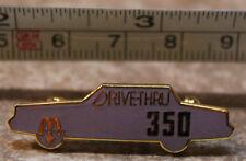 McDonalds 350 Drive-Thru Purple Car Vancouver Canada Employee Pinback Pin Button