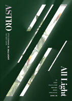 ASTRO [ALL LIGHT] 1st Album GREEN CD+Photo Book+Post Card Set+Sticker+P.Card+etc