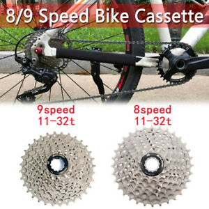 For Shimano Altus 8 9 Speed 11-32T Freewheel Bike Cassette Mountain Bicycle UK