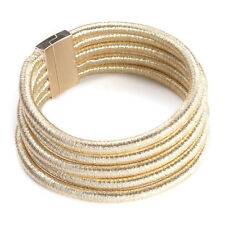 Metallic 5 Ring Multi Layer Celebrity Choker Bib Necklace Kim Kardashian