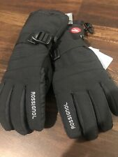 New Rossignol Mens Ski Snowboard Gloves Size Large Black