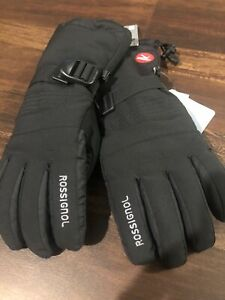 New Rossignol Mens Ski Snowboard Gloves Size XL Black