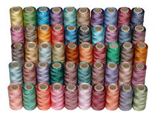 50 Variegated Rayon Machine Embroidery Thread Spools ( Mix Assorted Colours)