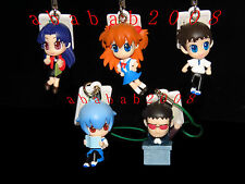 Bandai EVA Evangelion School strap Figure gashapon (full set 5 figures)