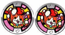 2 Piece Yo-Kai Watch Jibanyan Paws of Fury Rare Promotional Collectible,rare