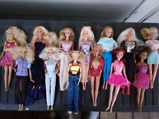 13 Vtg & Modern Mix Barbie Doll Lot with Clothing