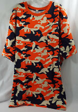 Boulder Creek Trading Company 3XL Big TShirt SS Chest Pocket Orange Blue Camo