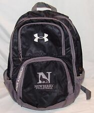 Under Armour Backpack Black Gray School Supply Newberry Volleyball Back Pack