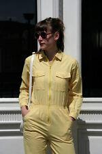 Damen Overall gelb 90er True VINTAGE 90s women jumpsuit yellow größe 36