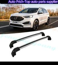 fits for Ford edge 2017 2018 2019 roof rack rail cross bar crossbar 2Pcs Silver