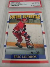 Eric Lindros 1990-91 Score Future Superstar PSA 8 Near Mint Mint Team Canada