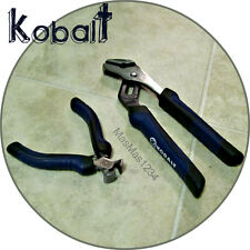 KOBALT 8 Inch Groove Joint Pliers & 4 inch Mini End Cut Nipper - NEW - FAST
