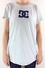 New DC SHOES Womens Star DC Logo T Shirt M Medium Sea Green/Blue DR1