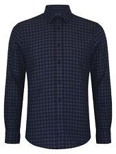 REMUS Uomo Tapered Winter Check Shirt/navy - XL Aw18