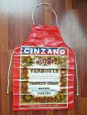 CINZANO VINYL BAR APRON * MAN CAVE DECORATION * BAR ADVERTISING MEMORABILIA