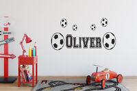 Personalised Football Wall Art - Boys / Girls / Kids Name Custom Vinyl Sticker