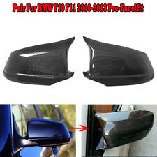 Carbon Fiber Style Door Rearview Mirror Cover for BMW F10 F11 5 Series 2011-2013