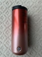 NEW Starbucks Holiday 2019 Red Silver Glitter Ombre Stainless Steel Tumbler 12oz