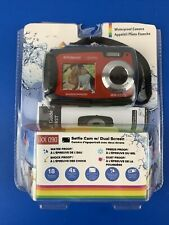 New Polaroid iXX090 Selfie Cam Dual Screen Shock & Waterproof Digital Camera Red