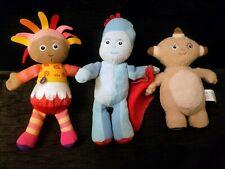 In The Night Garden Plush Characters. Igglepiggle, Makka Pakka And Upsy Daisy.