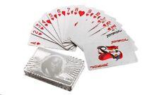 Benjamin Franklin Silver Foil Waterproof Plastic Playing Poker Deck Game Cards