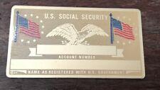 VINTAGE METAL SOCIAL SECURITY CARD PLATE NUDE MAN