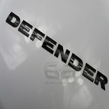 DEFENDER COUNTY 90 110 GLOSS BLACK BONNET BADGE LETTERING LETTERS FIT LAND ROVER