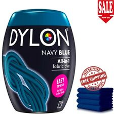 Navy Blue DYLON Washing Machine Fabric Clothes Dye Pod 350G Ready To Use