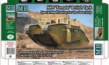 PLASTIC MODEL BUILDING ARMOR KIT MK I FEMALE BRITISH TANK 1/72 MASTER BOX 72004