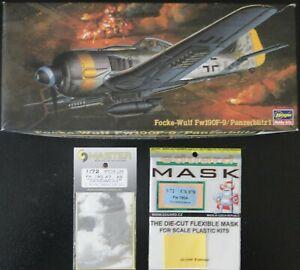 1/72 Hasegawa Focke-Wulf Fw 190 F-9 Panzerblitz 1 + mask Eduard + canons Master