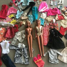 Vintage Malibu Barbie Francie Doll Box Lot with Clothes & Accessories.