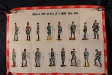 Poster, German Cavalry and Artillery Uniforms 1914-1918 1976 (382Oz)