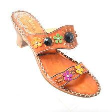 Spring Step Heels Floral Boho Sandals Womens Size EUR 38...US 7.5 - 8*