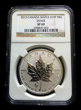2013 Maple Leaf Snake Privy Reverse Proof NGC SP 69 .9999 1 oz silver coin