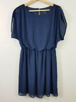 FOREVER NEW Womens Size 10 Navy Embellished Dress