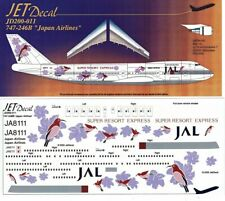1/200 Jet DECAL 20-011; JAPAN AIRLINES JAL Boeing 747-246B JA8111 Bird Art